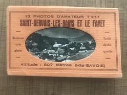 12 Photos D'amateur SAINT GERVAIS LES BAINS ET LE FAYET - Saint-Gervais-les-Bains
