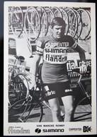 Carte Cyclisme Coureur Cycliste Flandria Carpenter Ronny VAN MARCKE - Cyclisme