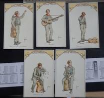 """Illustrateur: J. Bussche - Lot De 5 Cartes Postales - """"Série: DEUX FRÈRES"""" - 2 Scans. - Illustrateurs & Photographes"""