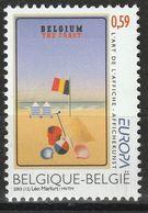 (!)  EUROPA CEPT De 2003  Thème Art De L'affiche  BELGIQUE Y&T 3172  Neuf(s) ** Mnh - 2003