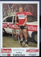 Carte Cyclisme Coureur Cycliste Flandria Carpenter Freddy MAERTENS - Cyclisme