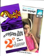FRANCE - 1966 - Dépliant SNCF + Dépliant Wagons-lits - Tourism Brochures