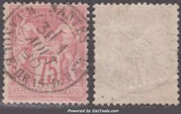 75c Rose Au Type II (N/U) Aspect TB (Y&T N° 81, Cote 150€) - 1876-1898 Sage (Type II)