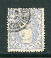 ESPAGNE- Y&T N°107- Oblitéré - 1870-72 Reggenza