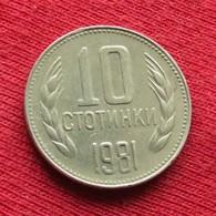 Bulgária 10 Stotinki 1981 KM# 114  Bulgarie Bulgarije Bulgarien - Bulgarije