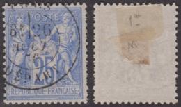 25c Sage Outremer Type I (N/B) Aspect TB (Y&T N° 68, Cote  80€) - 1876-1878 Sage (Tipo I)