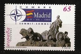 Espagne España 1997 N° 3072 ** OTAN, Traité De L'Atlantique Nord, Madrid, Fontaine, Cybèle, Armée, Lion, Char, Déesse - 1991-00 Nuovi