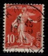 France 1906 - Semeuse Fond Plein Avec Sol N°134 - Oblitéré - 1906-38 Semeuse Camée