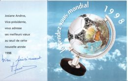 FRANCE - 1998-1999 - 2 Cartes De Voeux Politiques - Seine-Saint-Senis - Nouvel An