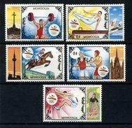 MONGOLIA 1992 - OLYMPICS BARCELONA 92 - YVERT Nº 1955-1959 - MICHEL 2424-25-26-30-32 - SCOTT 2107-08-09 13-15 - Verano 1992: Barcelona