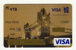 VTB  UKRAINE Summer Olympic Games London VISA Gold EXPIRED - Cartes De Crédit (expiration Min. 10 Ans)