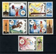 MONGOLIA 1992 - OLYMPICS BARCELONA 92 - YVERT Nº 1955-1959 - MICHEL 2424-25-26-30-32 - SCOTT 2107-08-09 13-15 - Jumping