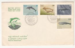1983 SRI LANKA FISH WHALE FD  MARINE LIFE - Poissons