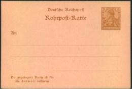 """1900,  25 Pfg. Germania """"REICHSPOST"""", Rohrpost-Doppelkarte Ungebraucht - Allemagne"""