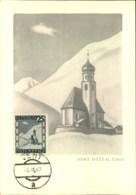 """1947, Frühe Maximumkarte """"VENT ÖTZTAL TIROL"""" - Autriche"""