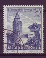 Dt. Reich 682 Ostmarklandschaften+Alpenblumen 25+15 Pf Gestempelt - Deutschland