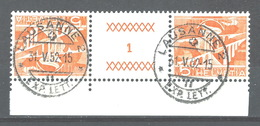 DD-/-031-. Tête-bêche  Avec Pont, N° 482b,  SUPERBE Obl., FEUILLE N° 1,  Cote 2.00 €   , Je Liquide - Inverted (tête-bêche)