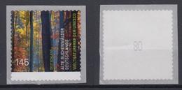 Bund 3087 SB Aus Rolle Mit Gerader Nr. Alte Buchenwälder Deutschlands 145 C ** - BRD