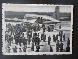 1950 CP Photo Aviation Sabena Lignes Aériennes Belges Arrival From Léopoldville Of The Mwami Ruanda - 1946-....: Ere Moderne