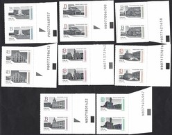Italia 2016; Piazze D' Italia, Serie Completa : 8 Coppie Con Codice Alfanumerico. - Bar Codes