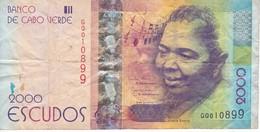BILLETE DE CABO VERDE DE 2000 ESCUDOS DEL AÑO 2014 CESARIA EVORA  (BANKNOTE) - Cap Verde