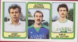Panini Football 83 Voetbal Belgie 1983 Sticker Nr. 388 Sporting Hasselt Josef Masopust Alfred Hermans Emile De Zutter - Sport