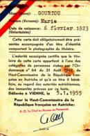 FRANCE - AUTRICHE - 1955 - Carte Tricolore IMMUNITÄT Justiz-Polizei-Zoll - Immunité Française - Documents Historiques