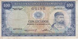 BILLETE DE GUINEA DE 100 ESCUDOS DEL AÑO 1971  (BANKNOTE) - Guinea-Bissau