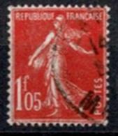 France 1924-26 - Semeuse Fond Plein N°195 - Oblitéré - 1906-38 Semeuse Camée