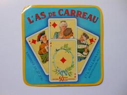 A-49101 -  étiquette De Fromage L'AS DE CARREAU Jeu De Cartes - MONTFAUCON Maine Et Loire - Fromage