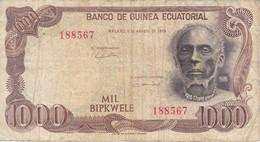 BILLETE DE GUINEA ECUATORIAL DE 1000 BIPKWELE DEL AÑO 1979  (BANKNOTE) - Equatorial Guinea