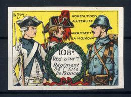 WW1- DELANDRE - 108e Rgt D'Infanterie  - ND - Vignette NEUVE ( Sans Traces De Charnières ) - NMNH - Vignettes Militaires