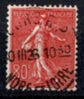 France 1924-32 - Semeuse Fond Ligné N°203 - Oblitéré - 1903-60 Semeuse Lignée