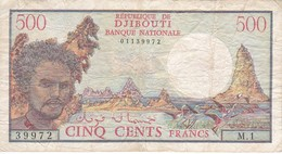 BILLETE DE DJIBOUTI DE 500 FRANCS DEL AÑO 1979 (BANKNOTE) - Djibouti