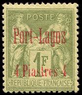 * PORT-LAGOS 6 : 4pi. Sur 1f. Olive, TB - Puerto Lagos (1893-1931)