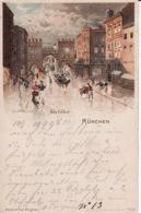 2638185München, Karlsthor 1899 (Paul Bergmann) (rechts Oben Sher Kleine Rischen) - Muenchen