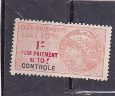 T.F Taxe De Luxe N°11 B - Fiscaux