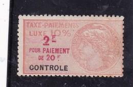 T.F Taxe De Luxe N°12 B - Fiscaux