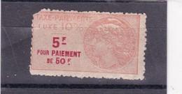 T.F Taxe De Luxe N°15A Défectueux - Fiscaux