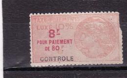 T.F Taxe De Luxe N°18 B Défectueux - Fiscaux