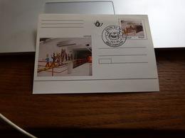 Carte Postale Tintin Hergé Cachet Salon Bande Dessinée 1996 - Cómics