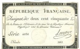 Assignat De Deux Cent Cinquante Livres 250 Domaines Nationaux - Assignats