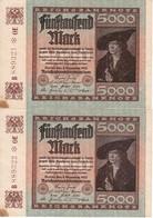PAREJA CORRELATIVA DE ALEMANIA DE 5000 MARK DEL AÑO 1922 SIN CIRCULAR (BANKNOTE) - 5000 Mark