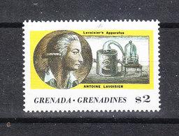 """Grenadine Grenada  - 1987. A. Lavoisier, E La  Macchina """" Conservazione Della Massa """". Lavoisier's Law. MNH - Scheikunde"""