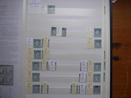 FRANCE Début De PLANCHAGE Du Numéro 22  Panneau B4 , Plus De 100 Numéros Identifiés, Voir Scan, Travail De Spécialiste - 1862 Napoléon III
