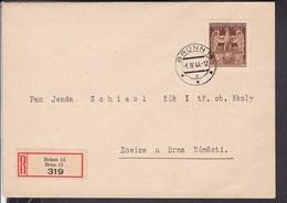 EinschreibBrief Böhmen Und Mähren 1944 - Covers & Documents