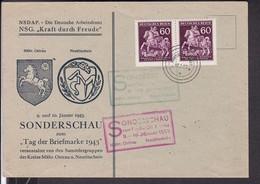 Brief Böhmen Und Mähren 1943 , FDC , Tag Der Briefmarke , - Germany