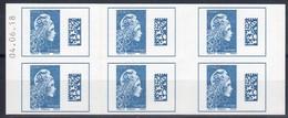 CARNET N° 1603-C1-Marianne L'engagée DATE 04.06.18 / U.C-6ex-20g L'international / NEUF.... - Carnets