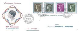 Luxembourg  -  FDC - 22.12.1948 - 30me Anniversaire De L'avénement Au Trône De S.A.R. Madame Le Grande-Duchesse - FDC