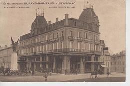 CPA Bergerac - Etablissements Durand-Barjeaud (avec Au Verso Avis De Passage De M. Bossavit, Représentant ...) - Bergerac